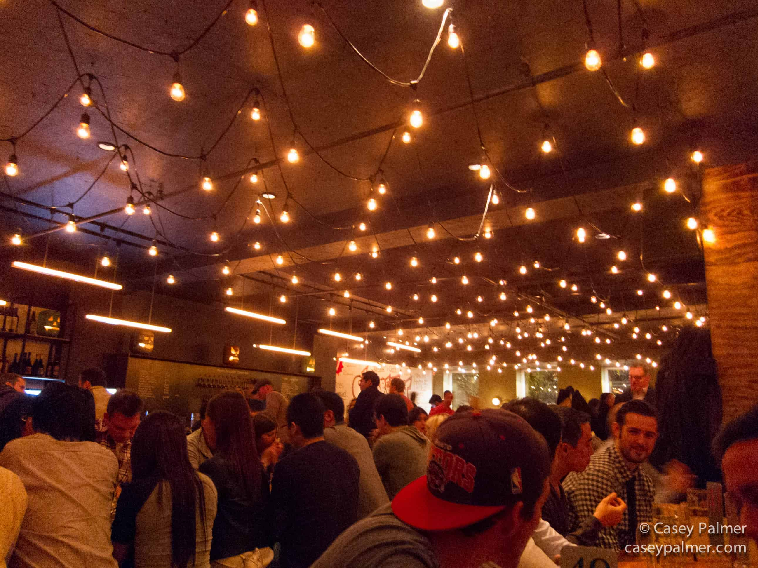 A photo of the ambiance at WVRST