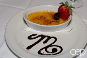 The Martini House's Vanilla Creme Brulee in Burlington, ON