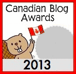 2013 Canadian Blog Awards Silver Medal
