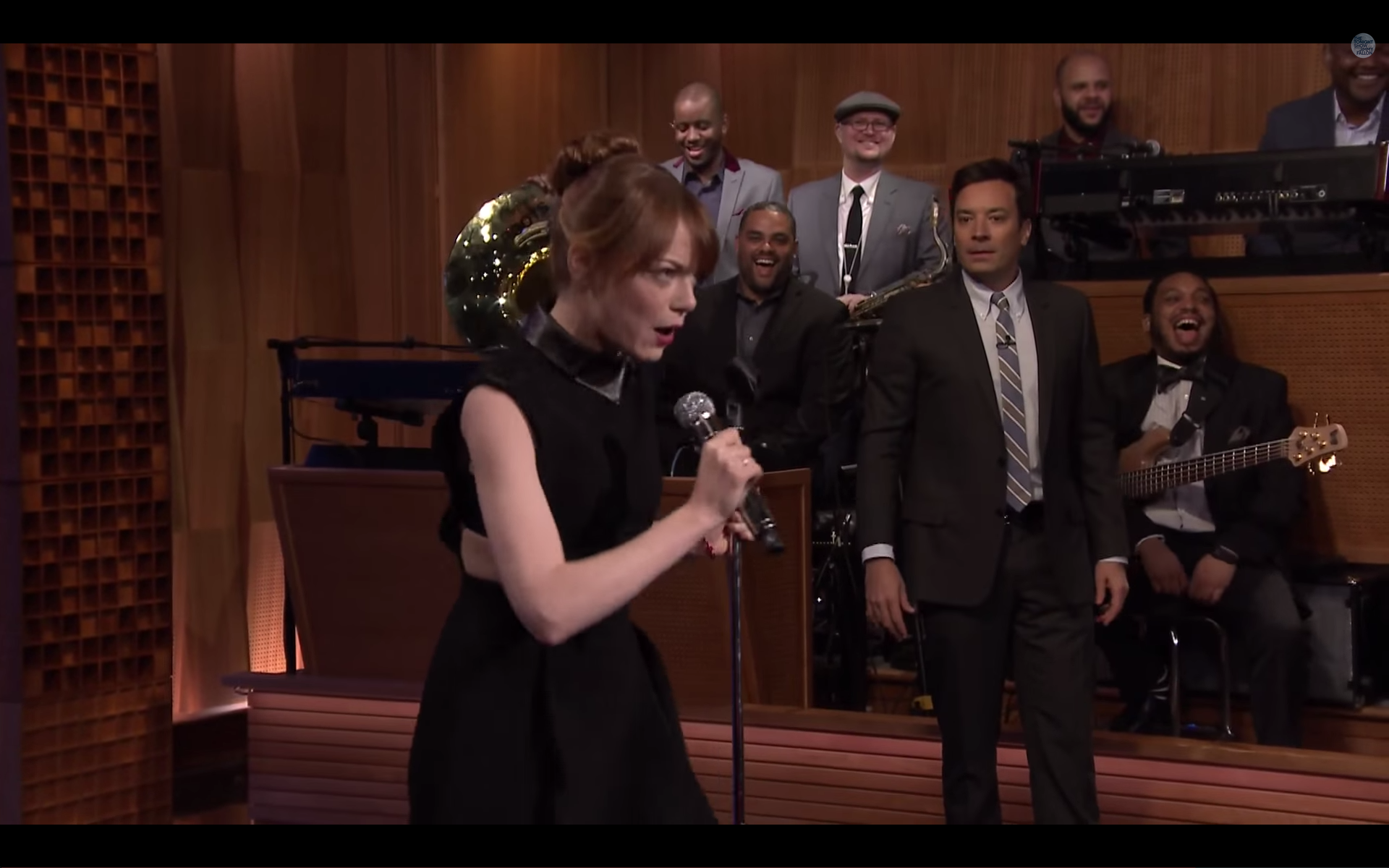Emma Stone See Through Fallon You can see it on jimmy's face