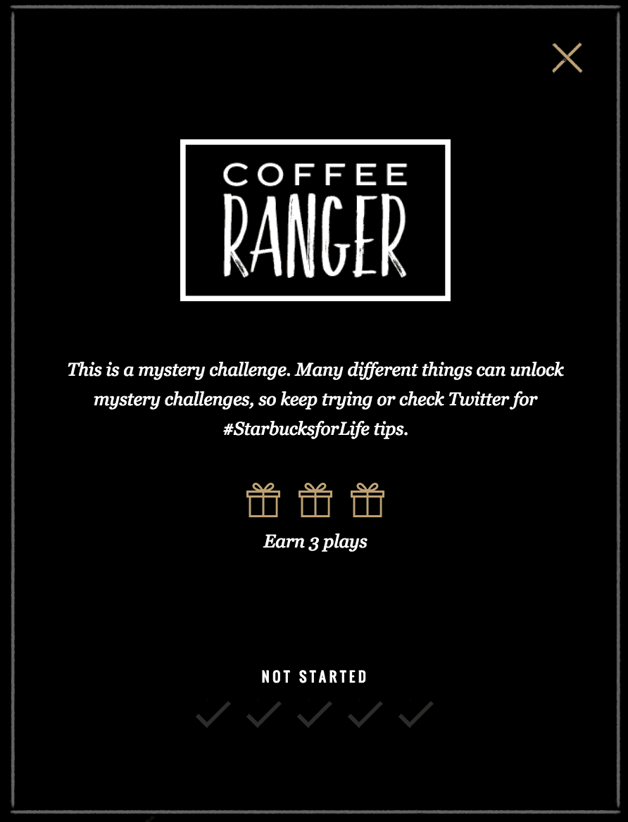 Incomplete Coffee Ranger Badge